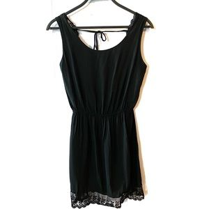 2/$22 Brandy Melville Open Back Lace Trim Dress